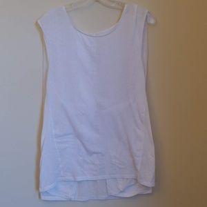 Lululemon White Tank Top Workout Yoga Size 10